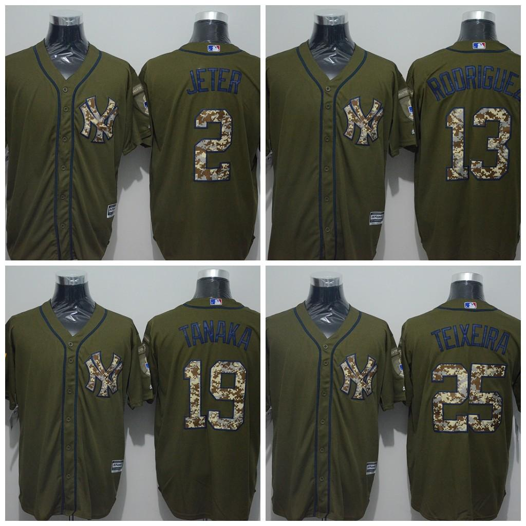 hot sale online 321ff 96a50 mens new york yankees 2 derek jeter green salute to service ...