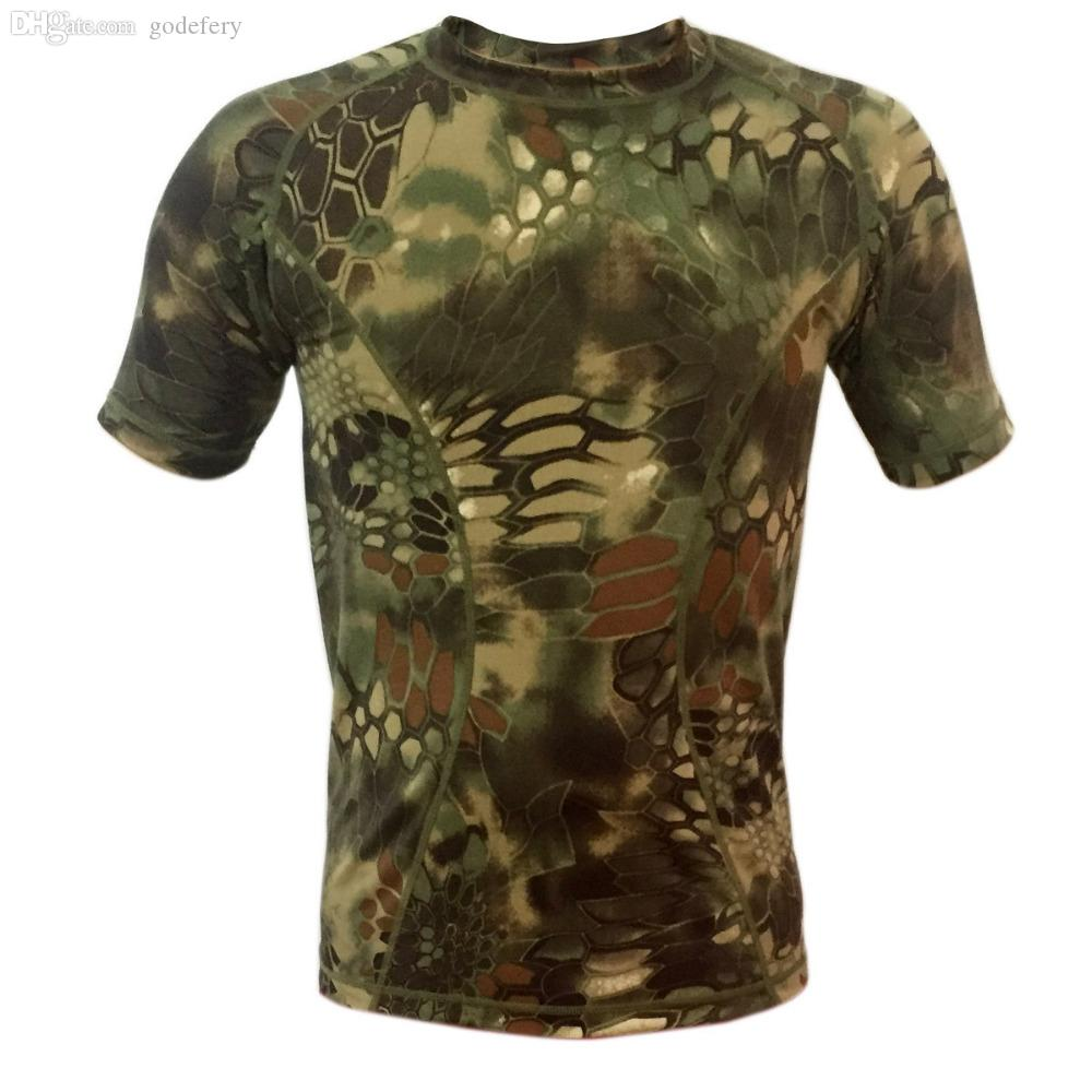f4c03892580f0 2019 Wholesale New Quick Drying Skin Python Camouflage T Shirt Men Women  Outdoor Camouflage Short Sleeve Men Breathable Mesh T Shirt From Godefery,  ...