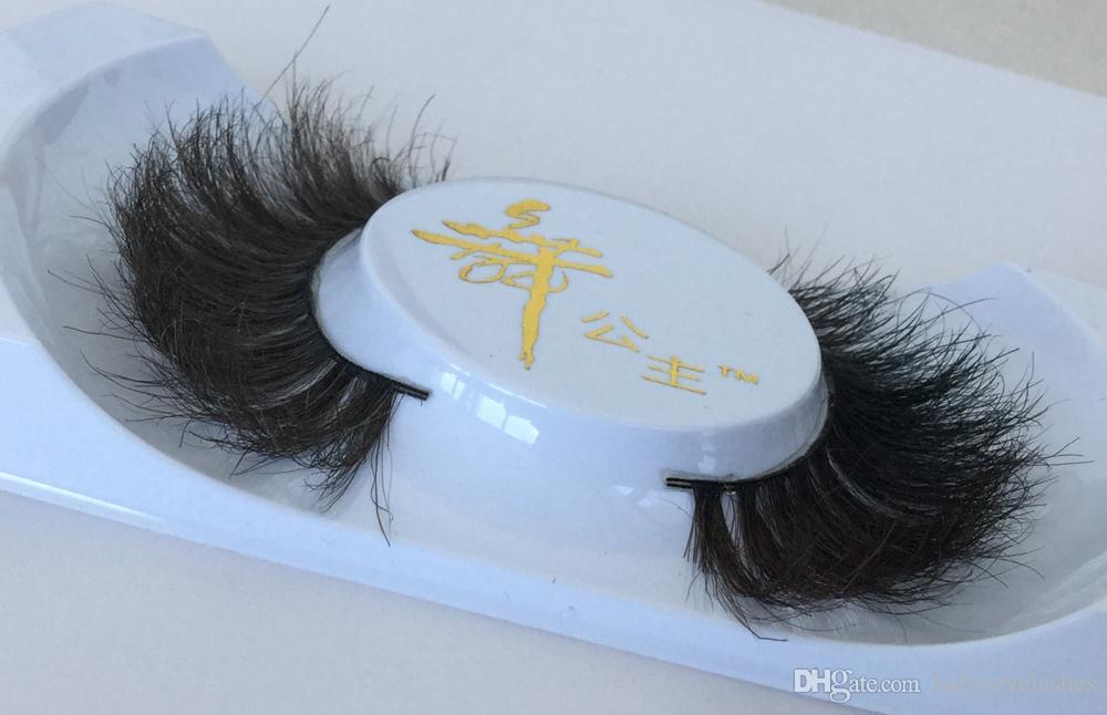 007 Faux cils cheval cheveux faux cils maquillage nude Luxurious Fait à la main Naturel Épais Doux Cheval Cheveux Faux Eye lash livraison gratuite
