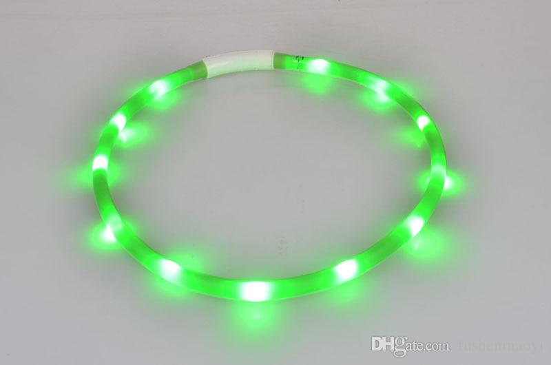 Brand new Pet Dog accessories USB LED flashing light dog Collars rechargeable battery