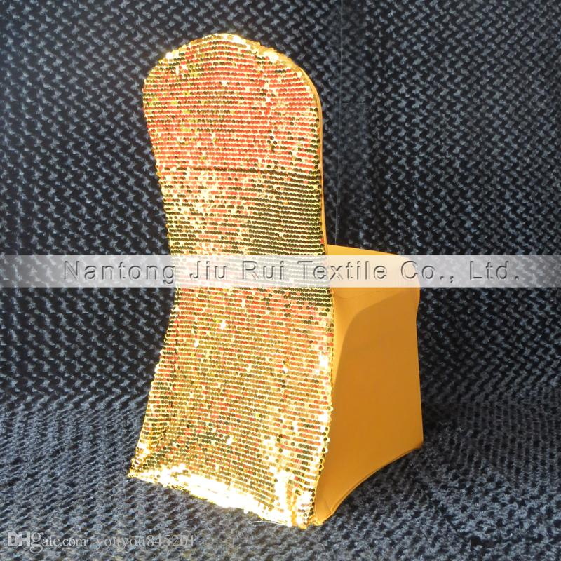 Gold & Silver Sequins Back Lycra Banquet Chair Cover For Wedding,Party,Hotel Use...