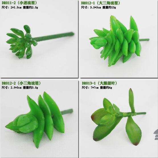Новое прибытие моделирования суккуленты искусственные цветы украшения мини-зеленый искусственные суккуленты растения украшения сада