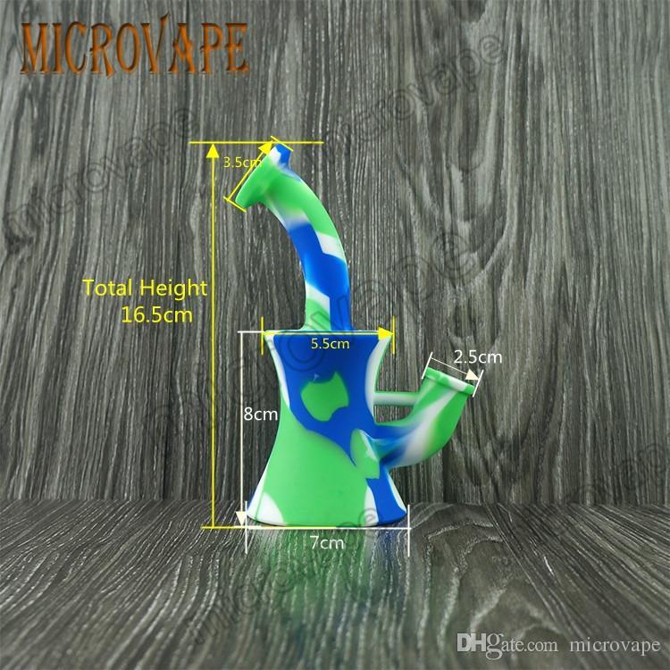 Eyc 13 цветов новый дизайн портативный кальян силиконовые водопровод для курения сухой травы небьющиеся воды перколятор Бонг масло Concent хорошее качество
