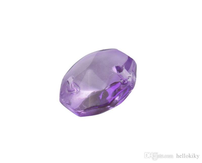 50 ADET 2 Delik Kristal Cam Sekizgen Avize Parçaları Toptan