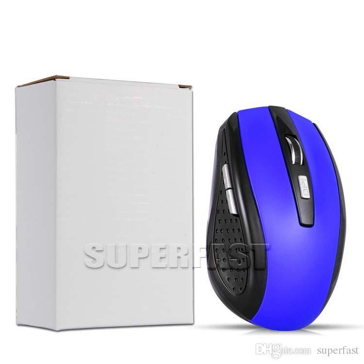 2.4 جيجا هرتز usb الفأرة الضوئية اللاسلكية usb استقبال الفأرة الذكية النوم لتوفير الطاقة الفئران لجهاز الكمبيوتر اللوحي الكمبيوتر المكتبي المكتبي مع مربع أبيض