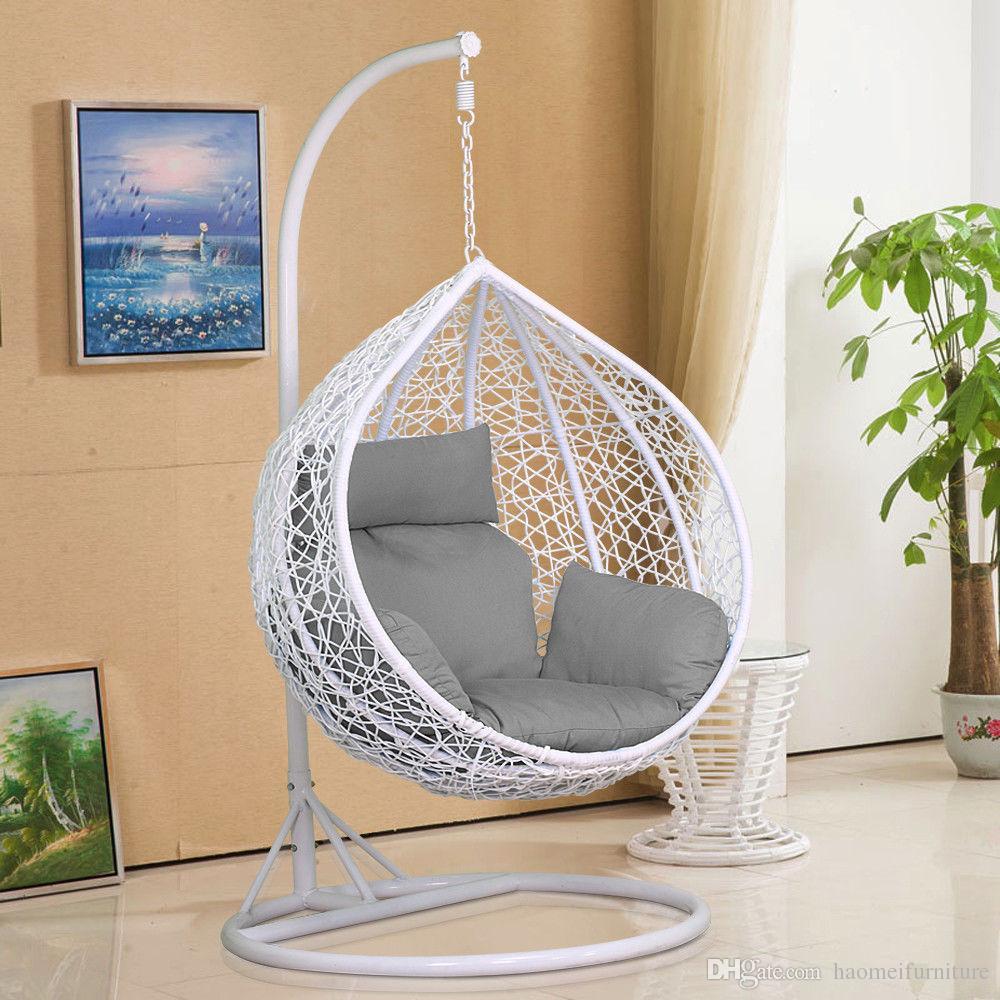 barato cómodo todo el tiempo precio barato dormitorio balcón ratán huevo forma colgante columpio silla de balancín para la venta