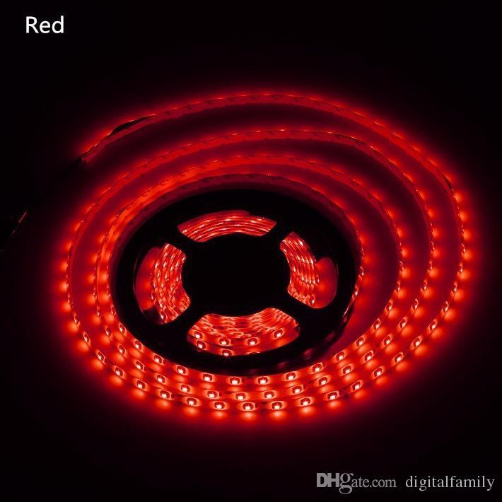 100 metro led strip light led ribbon 3528 SMD 5M rosso blu verde impermeabile flessibile 300LED Con connettore 12V 2A adattatore di alimentazione Da DHL