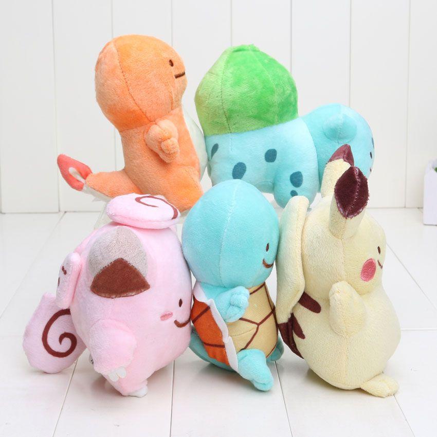 12-18cm Pikachu Center Plush Charmander Squirtle Bulbasaur Pikachu Plush Soft Stuffed Doll Toy for kids gift