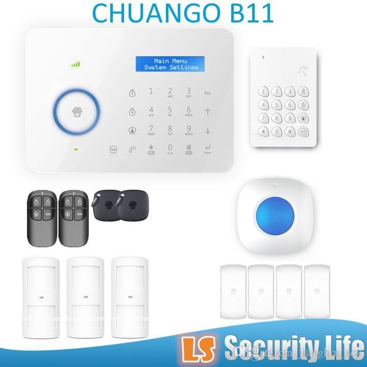 Hot selling Chuango B11 Dual network PSTN and GSM burglar Security Alarm System P375kit