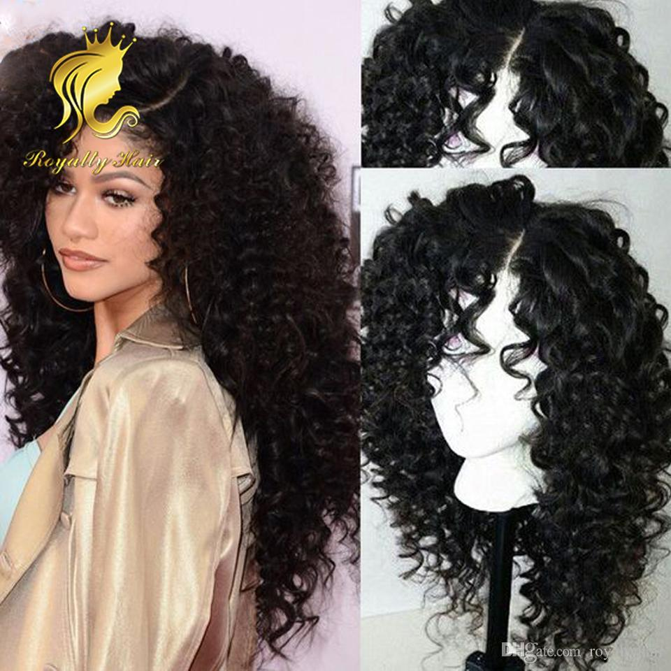 Best Quality Kinky Curly Full Lace Wig 130% Density Glueless Brazilian Human Hair Lace Front Wigs For Black Women