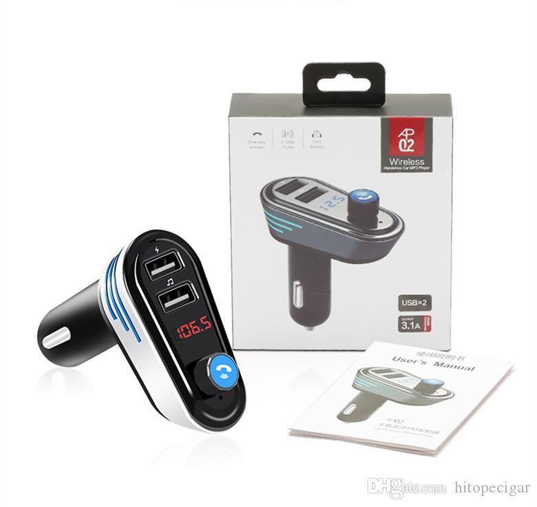 Bluetooth 4.2 Car MP3 Player FM Transmitter FM Radio Modulator Adapter Handsfree Car Kit 5V 3.4A Dual USB Charger Support U-disk