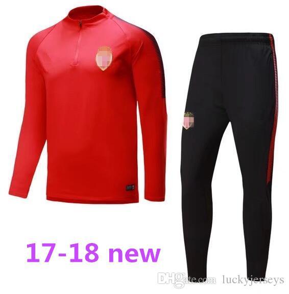 706b31d7e 2018 New Arrived 2017 Monaco Soccer Training Suits 17 18 Tracksuit Jackets  Pants Camisetas De Futbol Chandal Survetement Jacket Falcao Shirts From ...