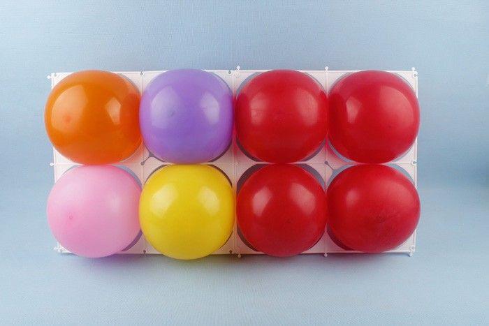 Ballon de latex / modélisation accessoires en plastique 4 trous grille de ballon, grilles de ballon pour articles de fête