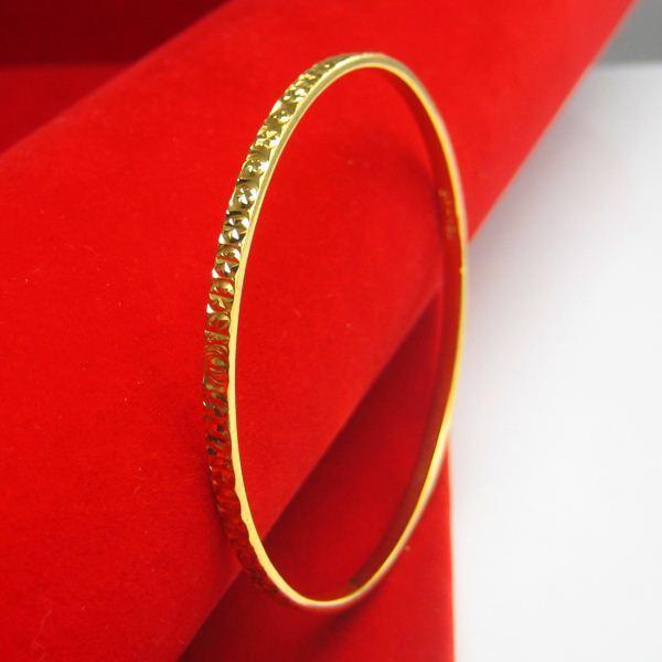 Don't rub off the gold bracelet woman 18K gold bracelet bracelet alloy gold wedding jewelry fashion Hongkong narrow
