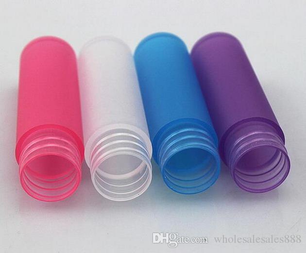 Fabrika Fiyat 5 ml Renkli Buzlu Plastik Tüp Boş Doldurulabilir Parfüm Şişeleri Seyahat ve Hediye için 500 adet / grup Sprey DHL Ücretsiz Nakliye