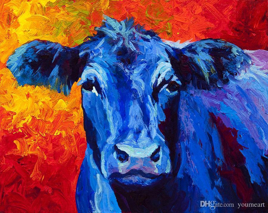 Картинки синей коровы