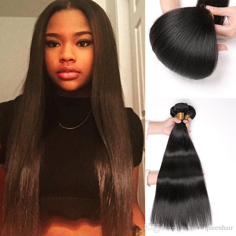 Factory Wholesale Brazilian Hair Grade 8A High Quality Silky Straight  Indian Hair Bundles Malaysian Peruvian Virgin Hair Straight Weave Milky Way  Hair Weave ... 18bdfe0b8910