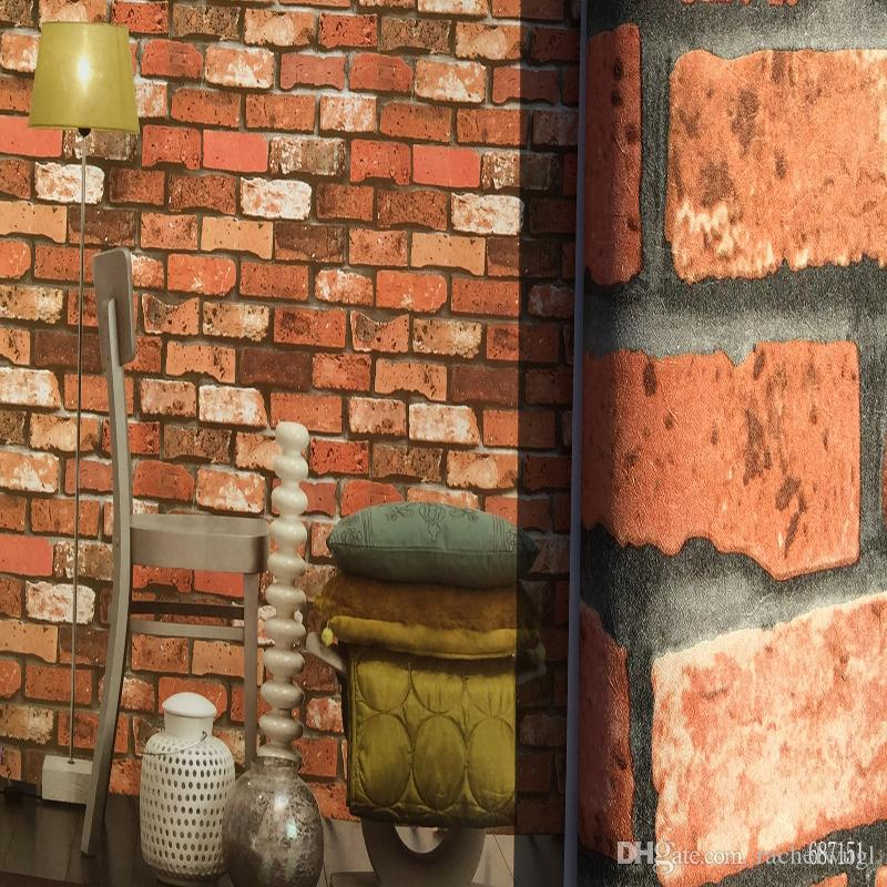 Modern Design Brick Wallpaper Stone Vintage Vinyl Wallpapers Rolls Home Decor Living Room 3D Wallpaper Wall Covering