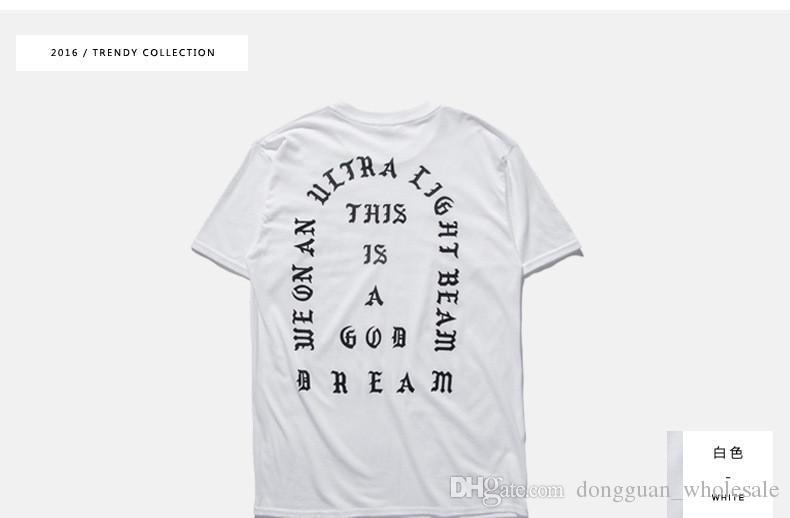 Mens T Gömlek MEVSIM 3 pablo gibi hissediyorum hissediyorum Tee kısa Kollu O-Boyun T-Shirt Kanye West Mektup Baskı Sportwear