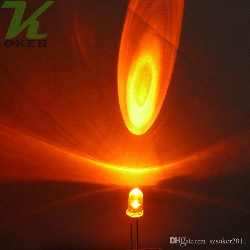 La lampada chiara arancione rotonda dell'acqua di 5mm LED ha condotto le lampade principali arancio diodi 5mm LED Trasporto libero