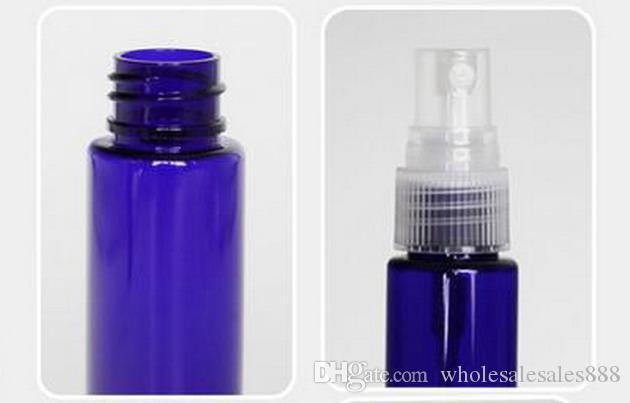 Parfüm Şişesi Boş Plastik Güzel Mist Sprey Şişe 1 oz Pompa Doldurulabilir Kozmetik Parfüm Atomizer Esansiyel Yağlar için Mükemmel 30ML Mavi