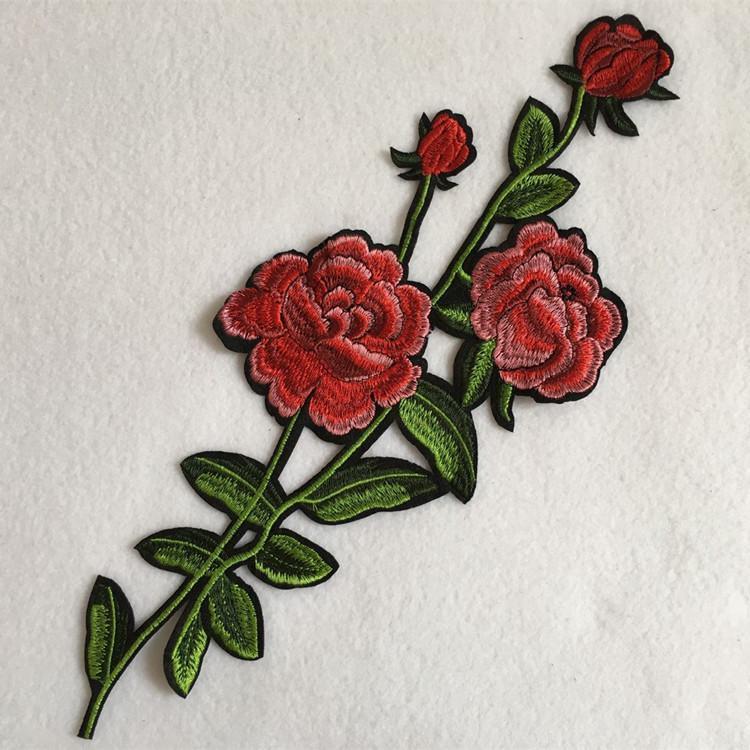 1 шт. Вышитый патч для шитья аппликации цветы пришить DIY ручной работы лоскутное аксессуары zakka