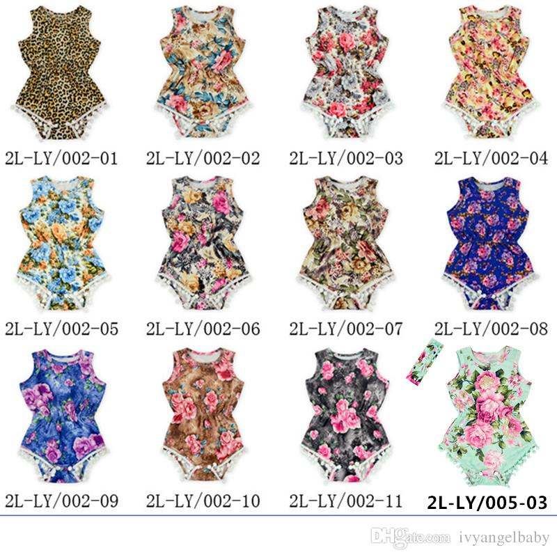 eccb1f054 2019 Kids Baby Girls One Piece Romper New Arrival Vintage Floral ...