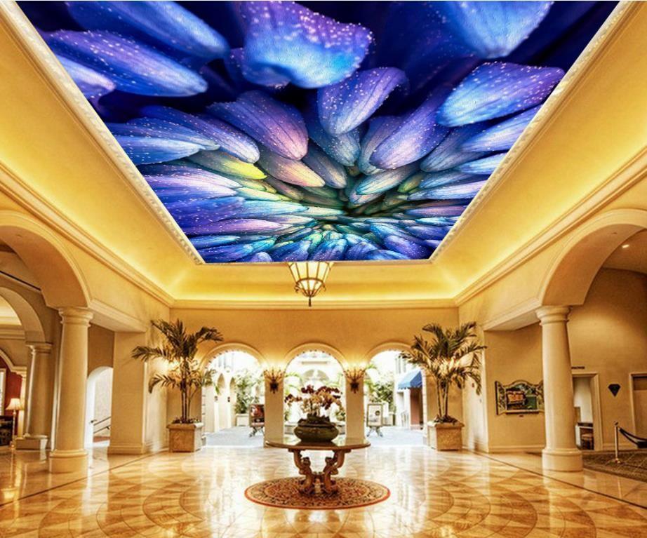 Tavan 3d Duvar Kağıdı Rüya Galaxy Yıldızlı Gökyüzü Nonwovens Duvar Resimleri Oturma Odası Tavan Dekoratif Duvar Kağıdı