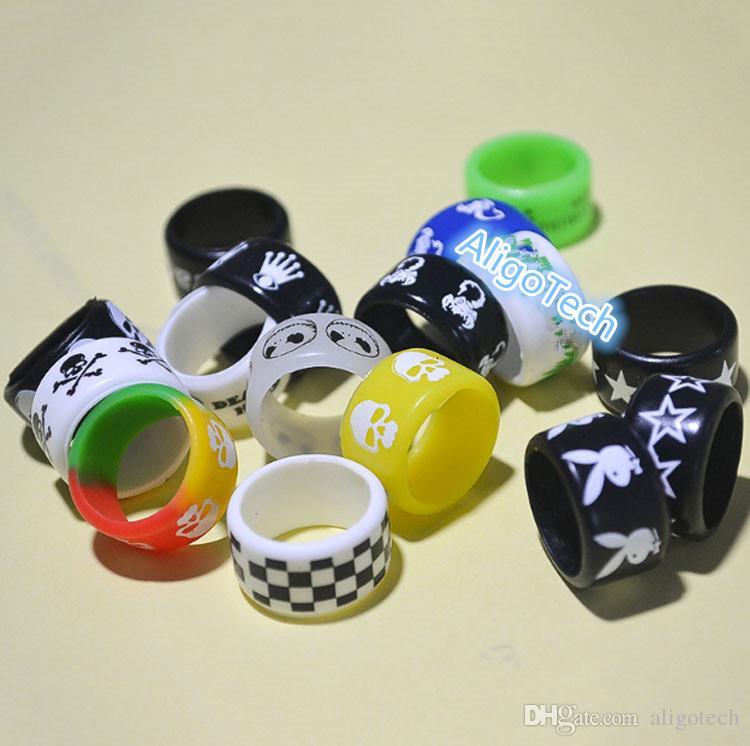 DHL Красочные Vape Группы Силиконовые уплотнительные кольца 18мм * 12мм кремния Vape кольцо для E Cig Механическая Mods Vapor стекла Sub Танки Non-Slip силиконовое кольцо