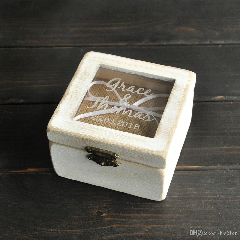 2018 personalized ring bearer box custom rustic wedding ring box 2018 personalized ring bearer box custom rustic wedding ring box wooden ring bearer box wooden square box from hls21cn 799 dhgate junglespirit Images