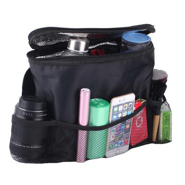 Car Cooler Bag Custodia di raffreddamento Custodia auto Seggiolino auto Organizer Articoli vari Borsa da viaggio multi-tasca Appendiabiti Backseat Organizing Box