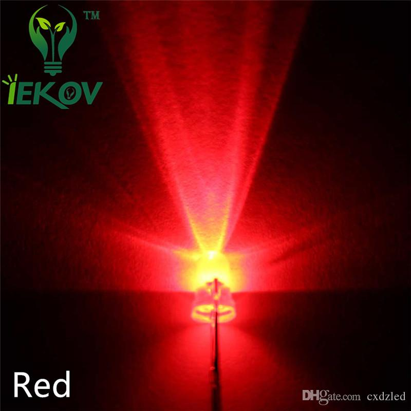 / bag 3MM Round Top Red led Urtal Parlak Ampul Led Lamba 3mm yayan diyot Elektronik Bileşenleri Toptan Sıcak Satış
