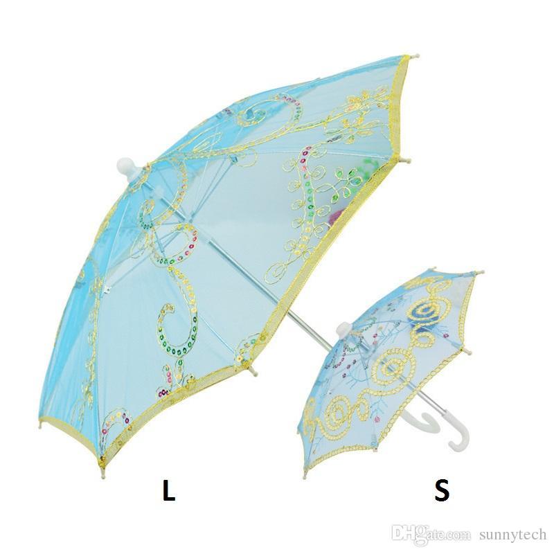 Mini Kleine Regenschirm Kinder Tanzen Requisiten Handwerk Spitze Stickerei Regenschirm Bühne Leistung Party Geschenke Souvenir ZA1287