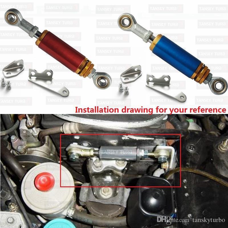 TANSKY-Alüminyum Ayarlanabilir Motor Tork Amortisör Şok Kiti Honda Civic Için 96-00 EK9 EK3 EJ Mavi / Kırmızı TK-CA0177-EK3