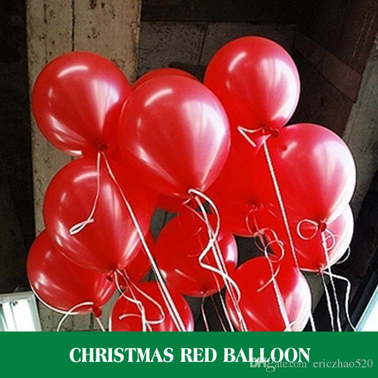 un lotto rosso / verde 10 pollici 2.2g gonfiabile decorazioni di natale palloncini in lattice di buona qualità palloncino vacanze all'ingrosso