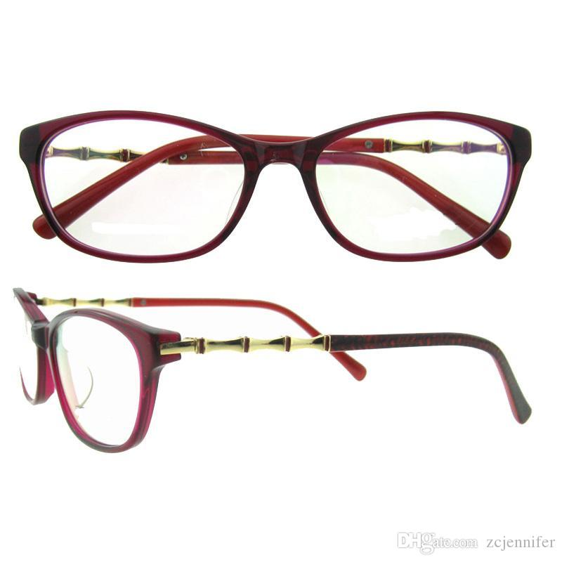 Stereoscopic Bamboo Shape Metal Glasses Frames Never Fade Vintage ...