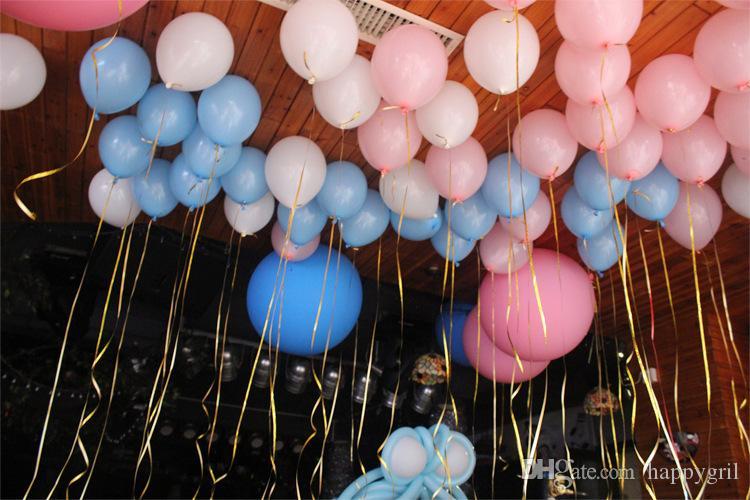 Suministros nueva / set 10m 5mm globo rollo de cinta regalos de DIY Crafts Foil fiesta de cumpleaños boda Curling Decoración para niños