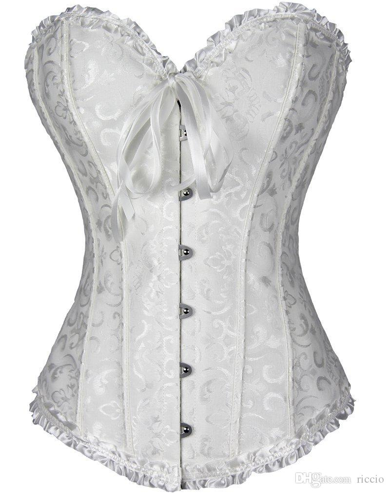 04cf2cd6b619e 2019 Plus Size Sexy Corsage Overbust Corsets And Bustiers Basque Waist  Training Steampunk Corset Gothic Clothing Sexy Lingerie Corselet 2325 From  Riccio