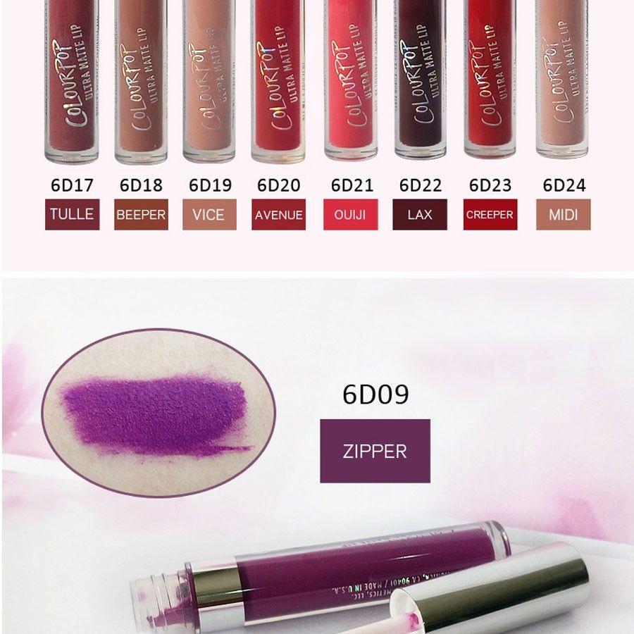 Top venta de alta calidad de color húmedo pop ultra es brillo de labios aterciopelado mate impermeable lápiz labial líquido de larga duración