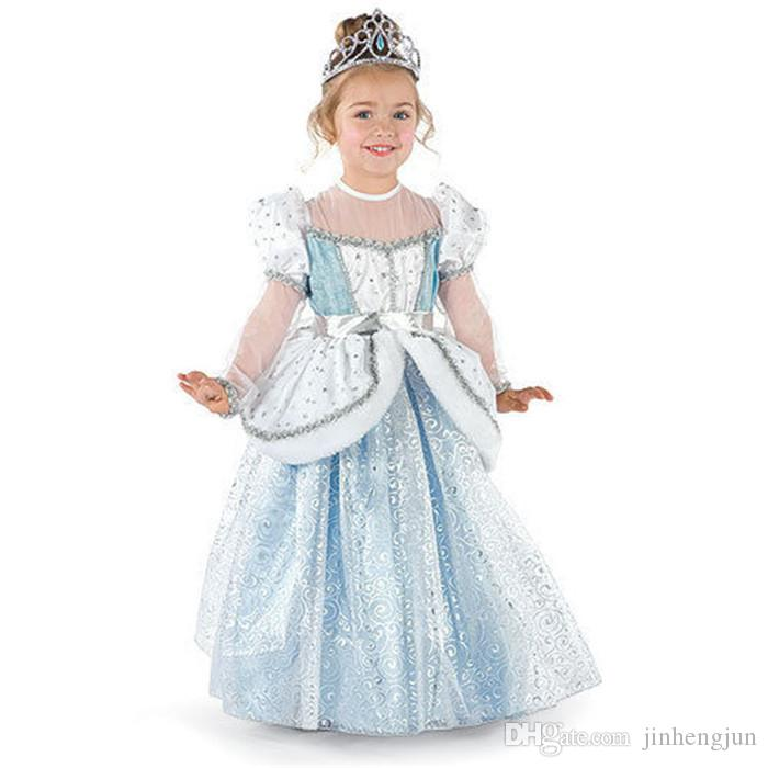 Cinderella Princess Toddler Girls Costume On Storenvy: 2016 Cinderella Girls Dress Blue Princess Costume Party
