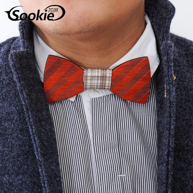 2016 Pajaritas de madera hechas a mano Vintage Bowknot tradicional 6 estilos Para caballero Elegante de madera Bowtie Hombres Accesorio de moda gratis Fedex TNT