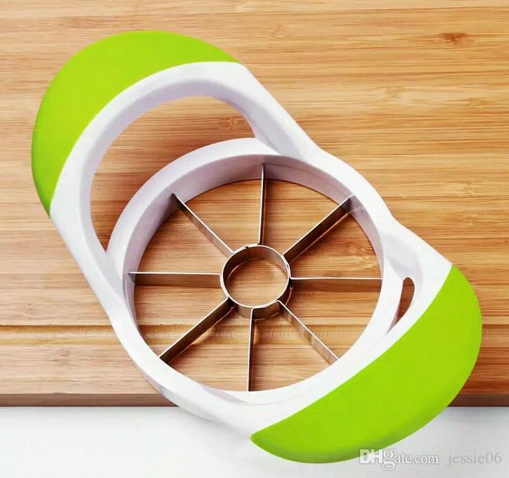 Kitchen Stainless Steel Apple Pear Slicer Corer Fruit Wedge Cutter Divider Easy Cut Segments paring knives colorful drop shipping