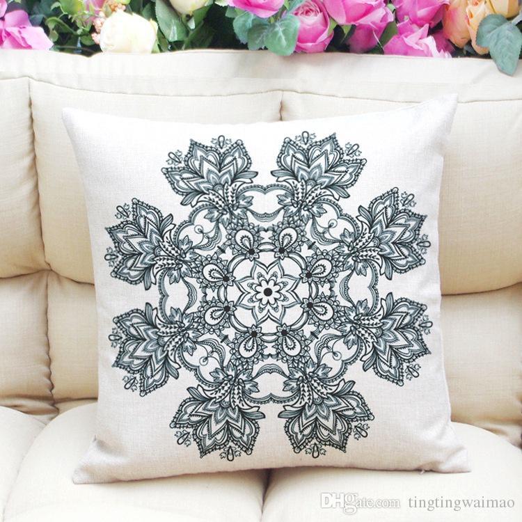 Modello minimalista cuscino lino cuscino copri cuscino cuscino testata personalizzata