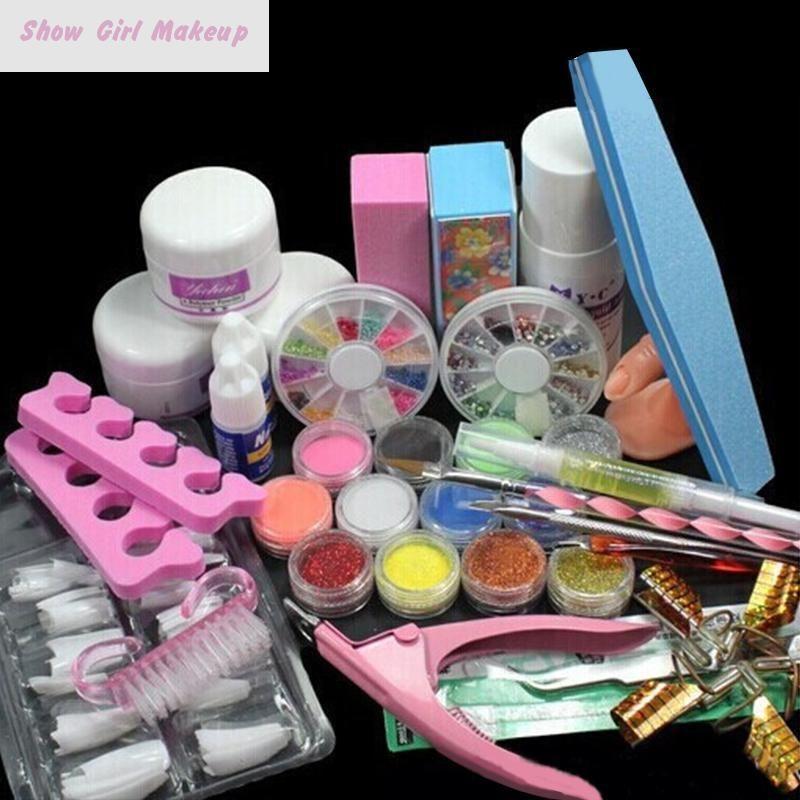 Nail Kits Acrylic Nails Art Tools Manicure Set Uv Gel Kit Set ...