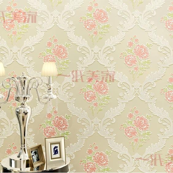 New Fashion Girls Room Pink Flower Wallpaper For Bedroom Wall - Girls flower bedroom wallpaper
