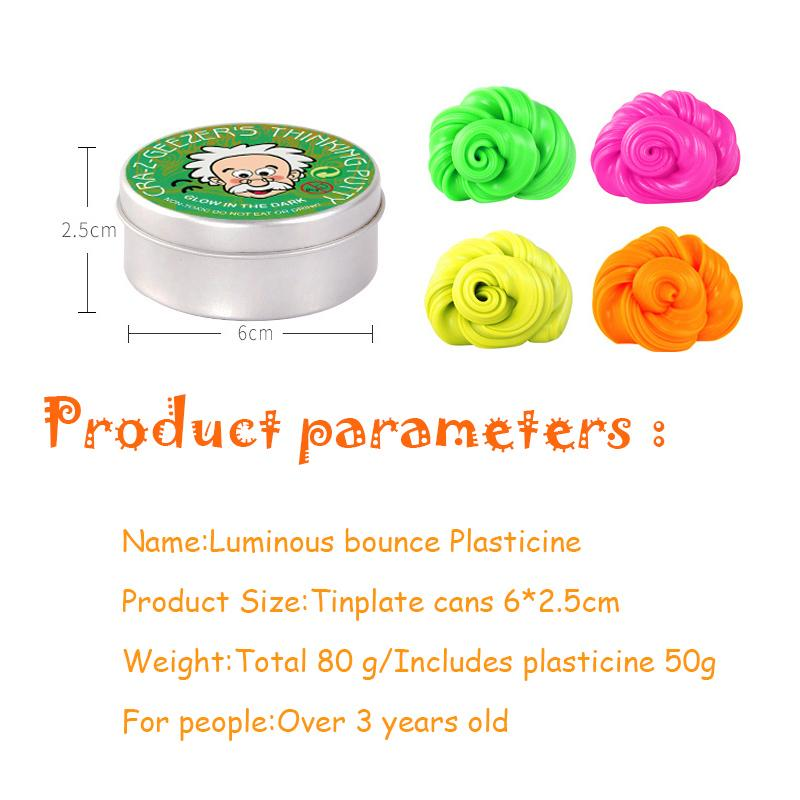 DIY Luminous Thinking Putty Intelligent Creative Hand Gum Temperature Change Turns Color Slime Silly Magnets&Magnetic Toys Plasticine Mud