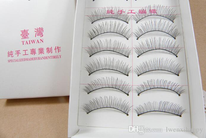 Дешевые 10 пар Косметика ручной работы Природные Мода Ложные Ресницы Soft Long Eye Lash Cosmetic Бесплатная доставка