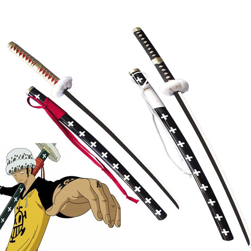 Free Shipping 41 Inch One piece Trafalgar D  Water Law Sword Surgeon of  Death Anime Cosplay Prop-Red/White