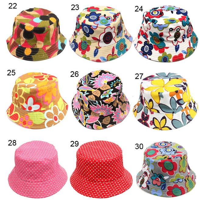 a565e2ef4a6210 2019 Children Bucket Hats Kids Sun Hat 30 Styles Floral Baby Sunhat Kids  Fishing Caps Baby Fisherman Hats Cartoon Kids Beach Sun Hats D496 From  Billychan, ...