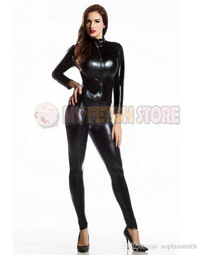 jxy007 shiny metallic zentai Suit for Men/women front open halloween performance zentai Catsuit costume